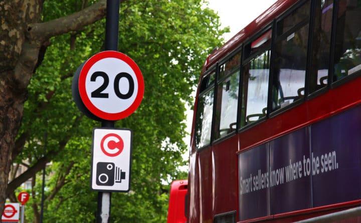 Limita de viteza din centrul Londrei