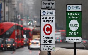 Taxa pentru congestie - Semn