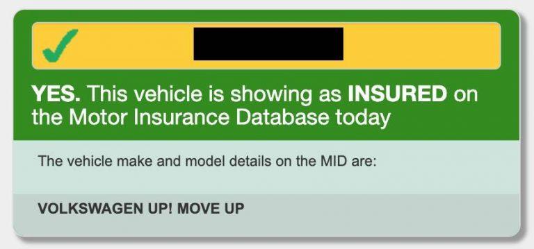 Verificarea asigurarii auto